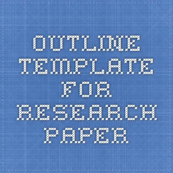 Outline Template For Research Paper  Educational Therapy