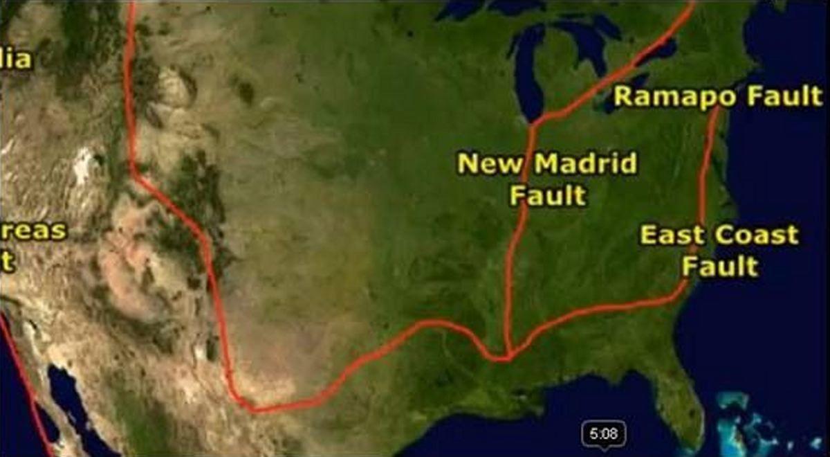 Us Earthquake Fault Lines East Coast Earthquake Predictions - Active fault line map us