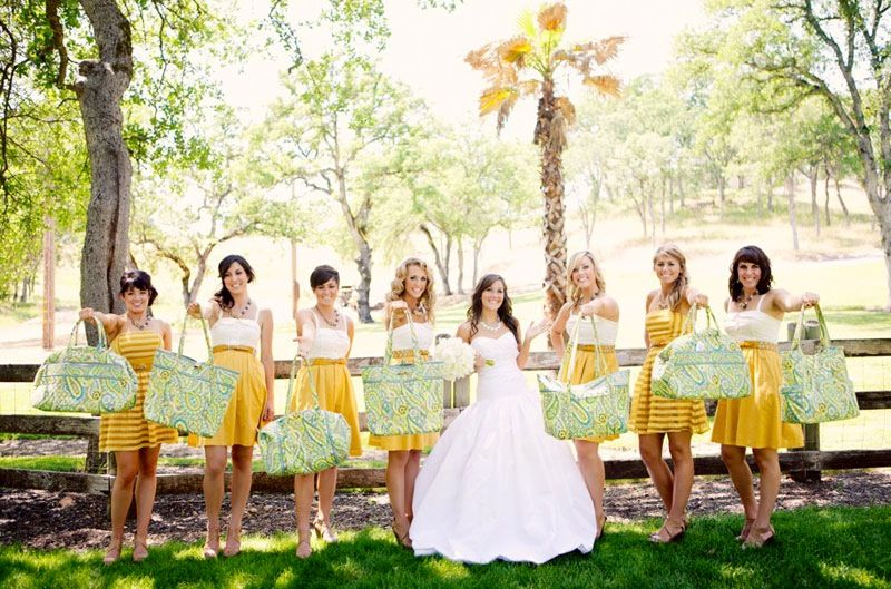 Vera Bradley Bridal Party Gowns Rings Wedding Best