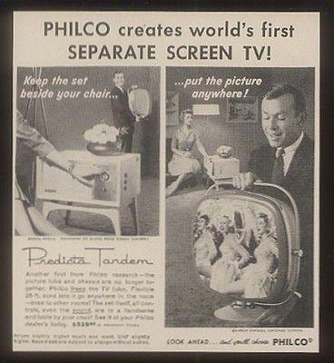 1958 Philco Predicta TV Sert Tandem Television