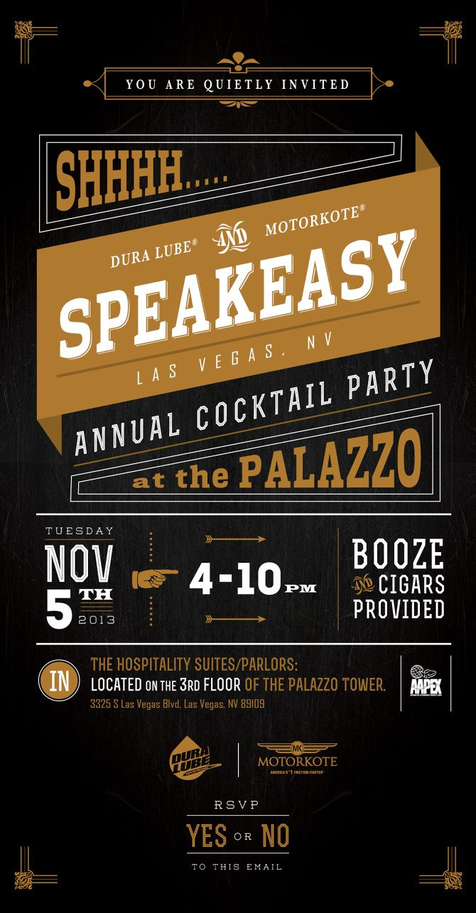 Speakeasy Invite In Print Pinterest