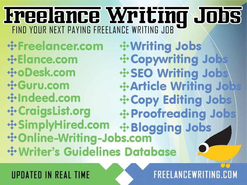 Find your next paying freelance writing job at www.FreelanceWriting.com