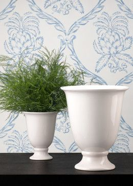 White Porcelain Urn Flower Vase   Traditional   Indoor Pots And Planters   Jamali  Floral U0026