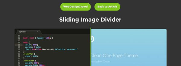 Sliding Image Divider Webdesigncrowd Com Css Tutorial Image Divider