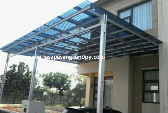 kanopi baja galvanis jual atap ringan untuk di bogor facade house