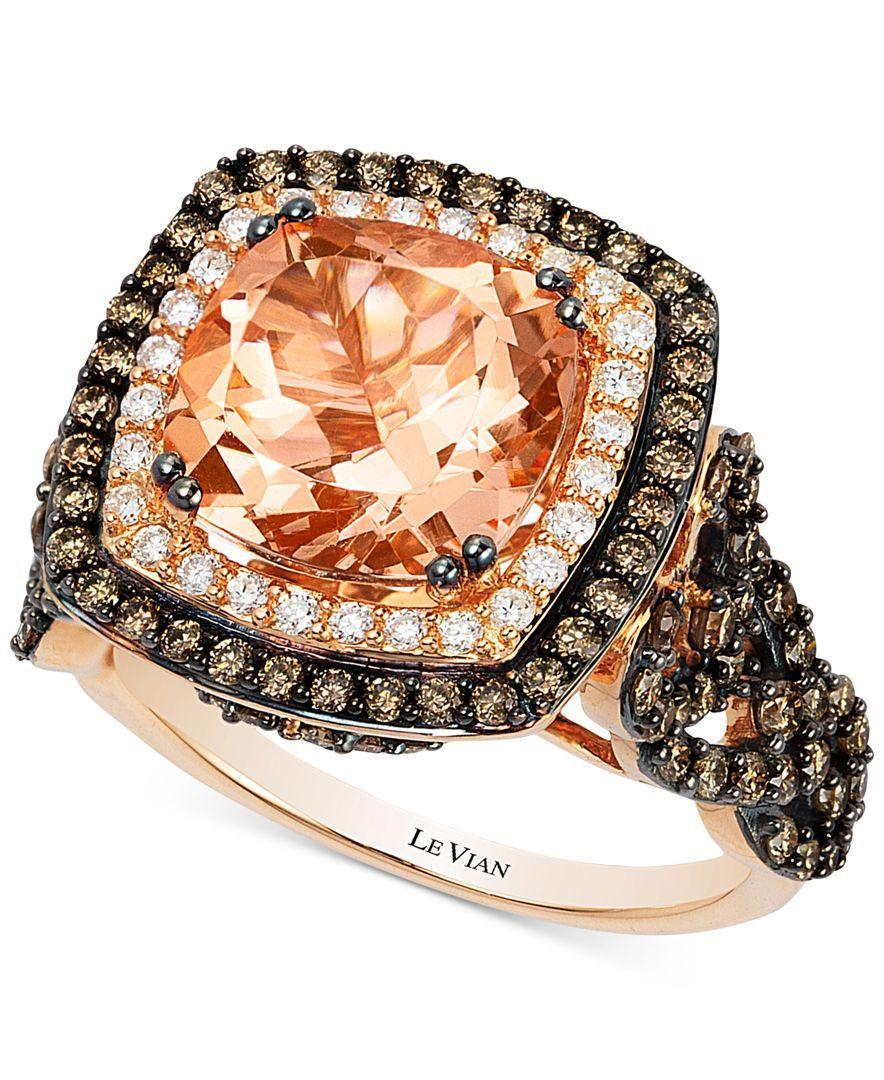 Le Vian Diamond Ring 1/2 ct tw Round-cut 14K Strawberry