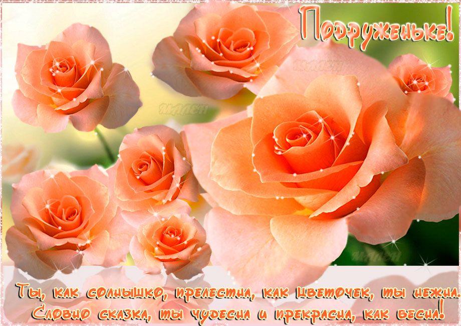 Спасибо за то что ты есть, подруга! — Бесплатные поздравления   Flowers,  Plants, Rose