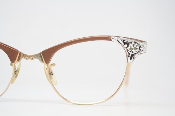 Retro Glasses Vintage Eyeglass Frames  1960's Cateye Glasses vintage eyewear Vintage Eyeglasses