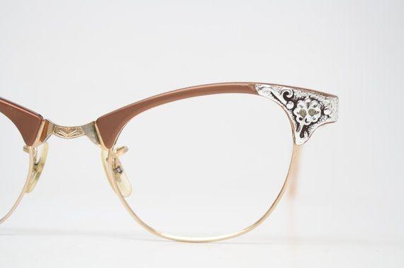 Retro Glasses Vintage Eyeglass Frames  1960's Cateye Glasses vintage eyewear Vintage Eyeglasses