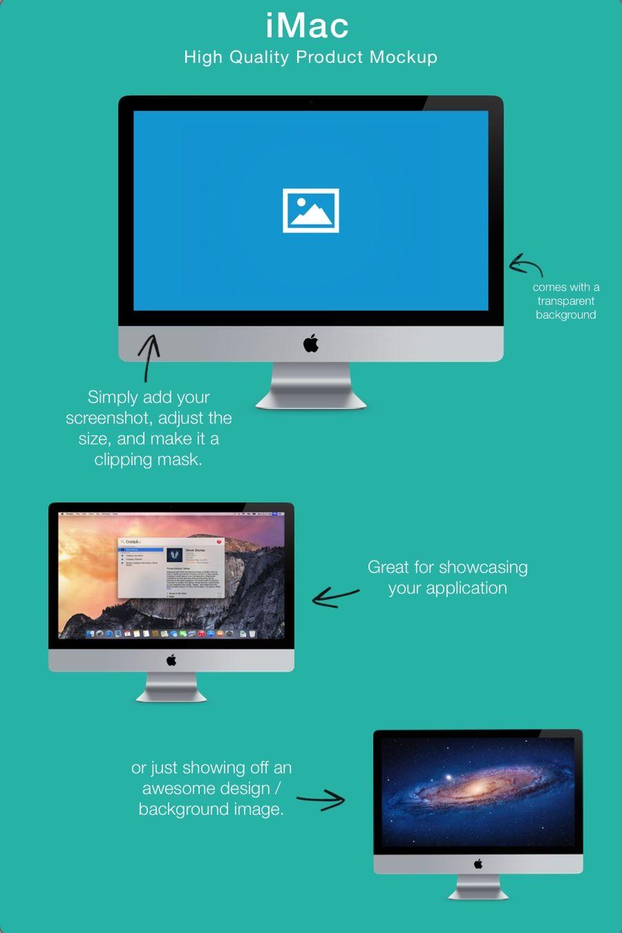 Product Mockup - iMac - Pixelmator Template ($4+) | Pixelmator ...