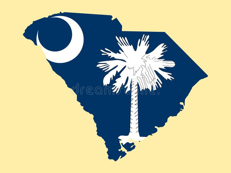 Map Of State Of South Carolina Map Of The State Of South Carolina And Their Fla Affiliate South State Map Flag South Carolina Carolina State Map