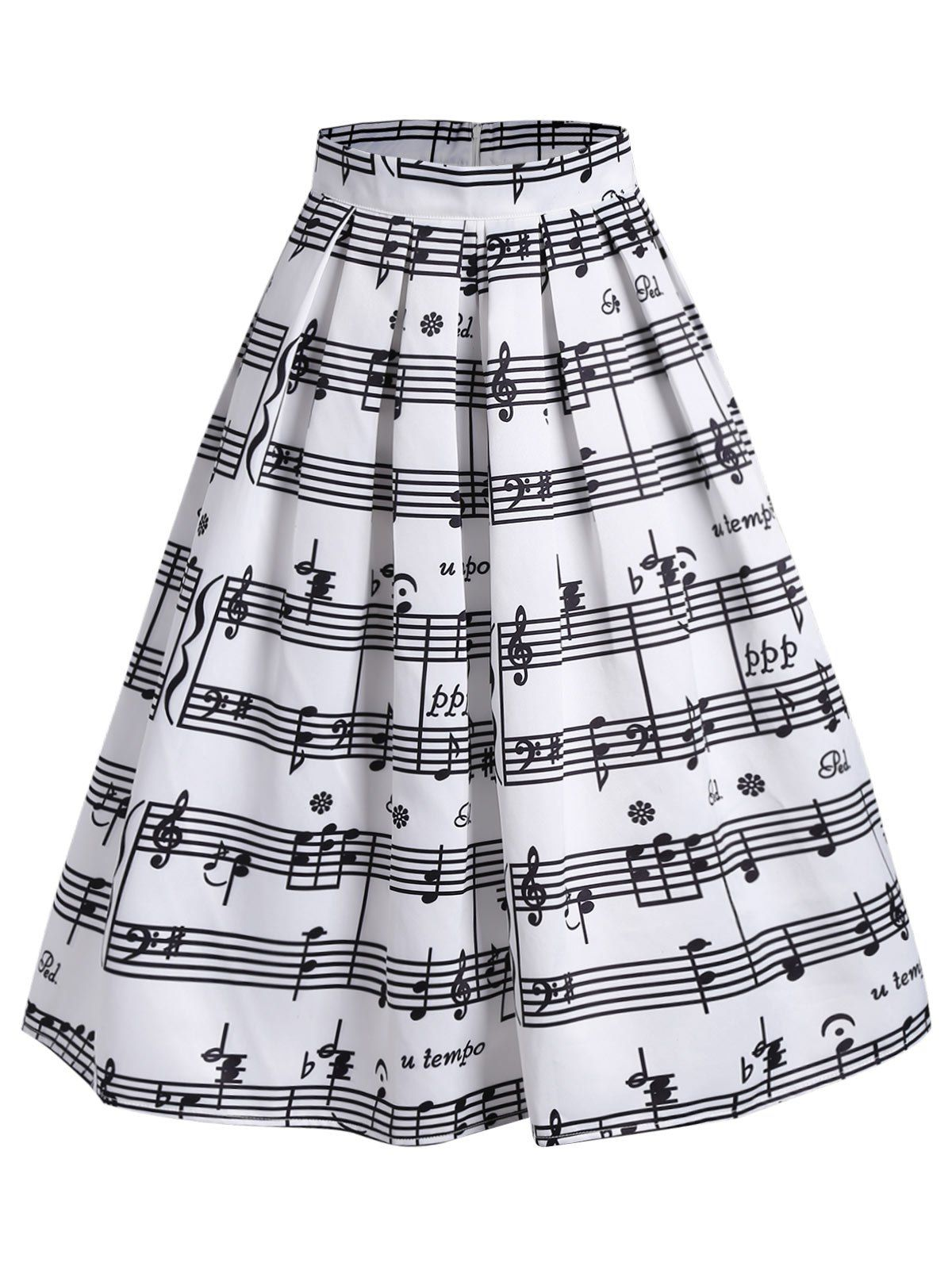 19235e02f7 Music Notes High Waist Midi Skirt in 2019 | Primary singing time ...