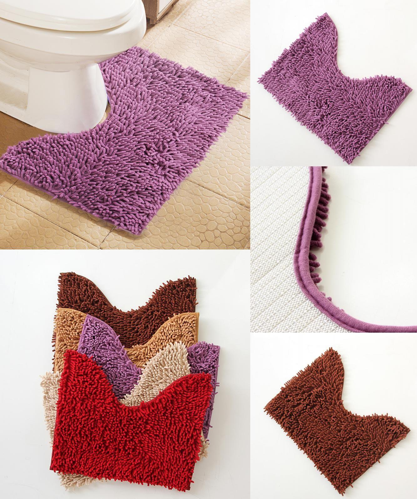 visit to buy] cheap 40*50cm u shape bathroom mats set toilet