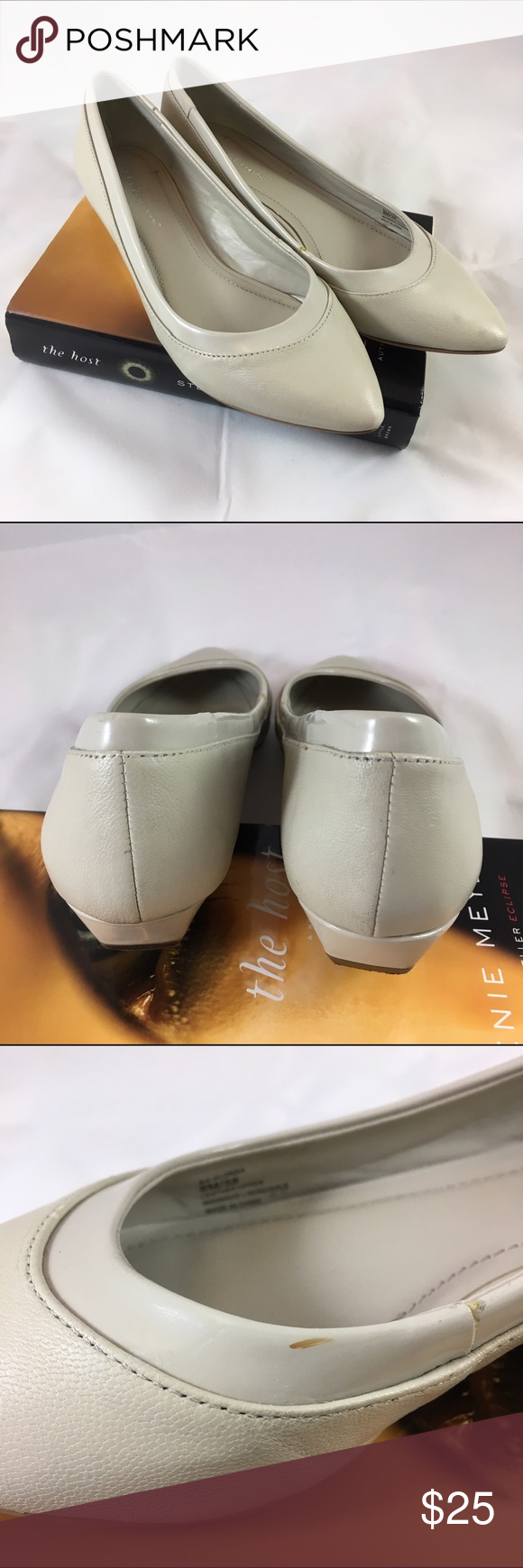BCBG Generation size 8 beige short wedge BCBG Generation, style called Alonsa, 1/4 inch short wedge, size 8, leather in light beige/cream colorOFFERS WELCOME! BCBGeneration Shoes Flats & Loafers