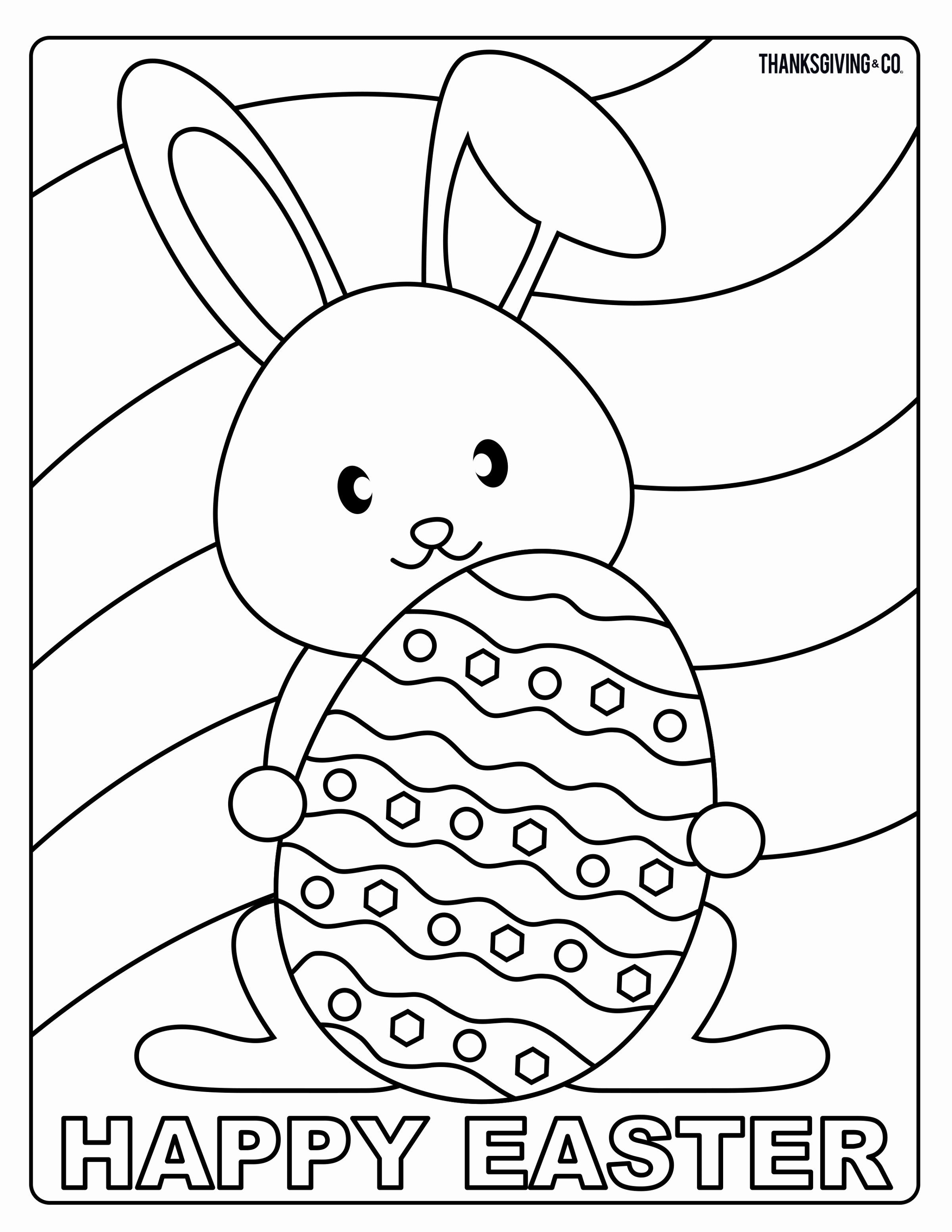 Coloring Page Easter Printable In 2020 With Images Bunny