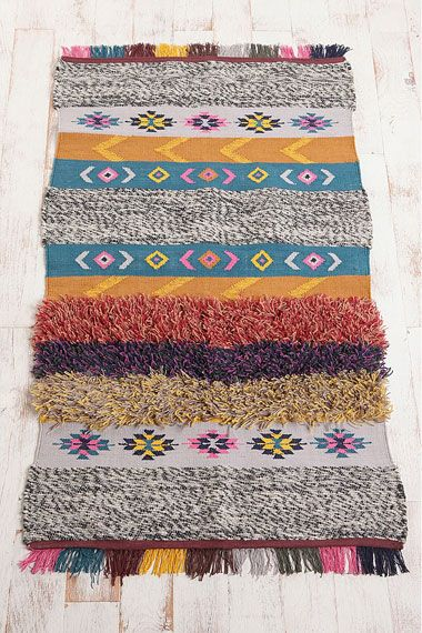 Shabby chic mixed woven rug by Urban Exclusive