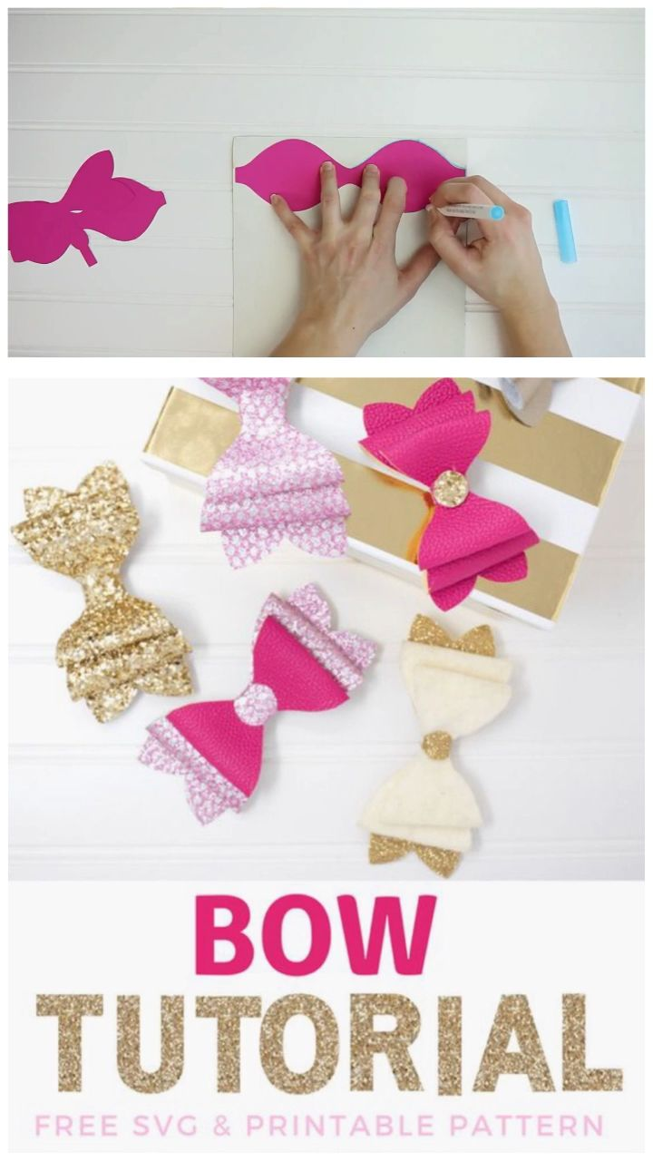 DIY layered Hair Bow SVG Cut File and Tutorial