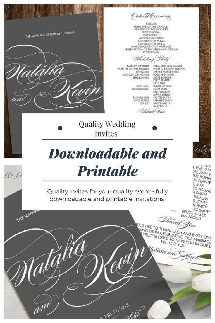Stunning Hand Made and Downloadable Wedding Invitations # ad ...