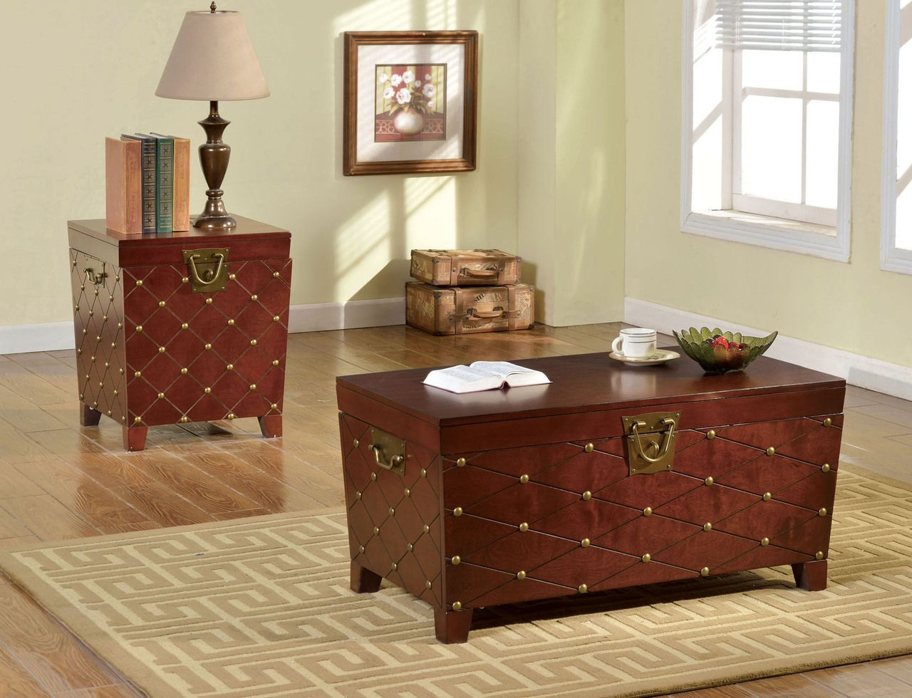 Stuart Cherry Trunk Inspired Coffee Table Coffee Table And Side Table Set Coffee Table Trunk Oak Coffee Table [ 980 x 1280 Pixel ]