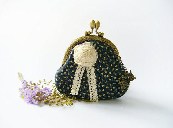 Cat purse / Cat zipper purse / Cat coin purse / Hand embroidery ...