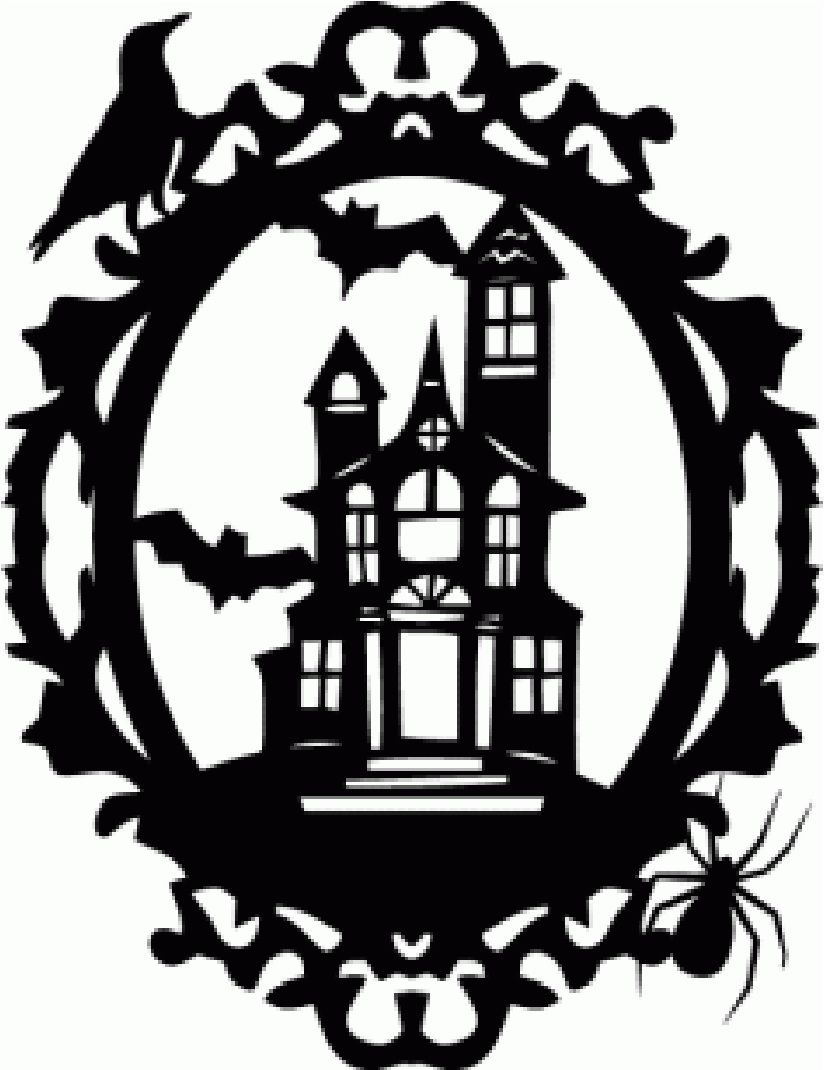 spooky manor haunted house paper cut out halloween. Black Bedroom Furniture Sets. Home Design Ideas