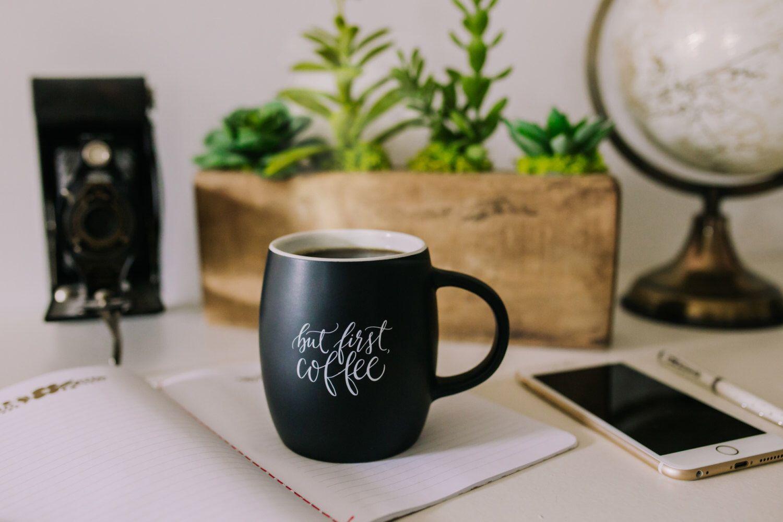 Matte Black Coffee Mug, calligraphy ceramic coffee mug handlettered coffee mug, chalkboard coffee mug, But First coffee mug Printable Wisdom by PrintableWisdom on Etsy https://www.etsy.com/listing/225477397/matte-black-coffee-mug-calligraphy