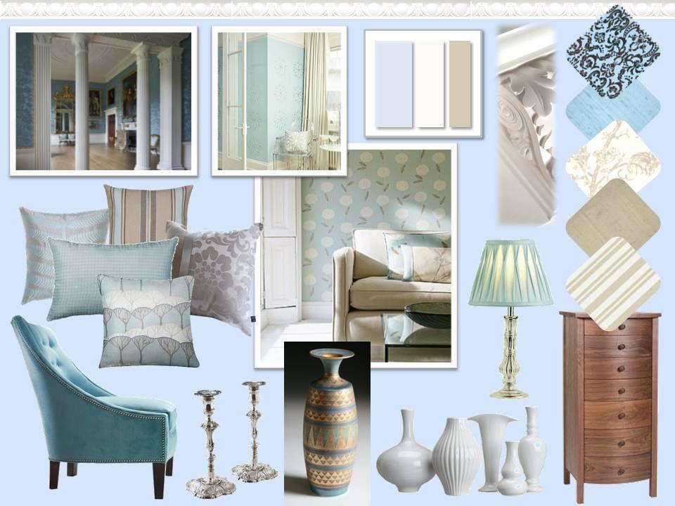 Historical Colour Scheme Mood Board Interior Design