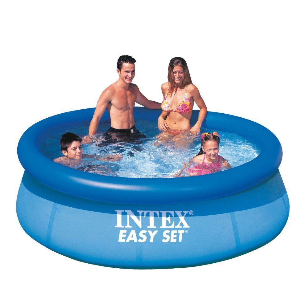 Inflatable Swimming Pool Filter Pump Outdoor Family Kids Fun Swim Play 8 X30 Easy Set Pools Intex Swimming Pool Inflatable Pool