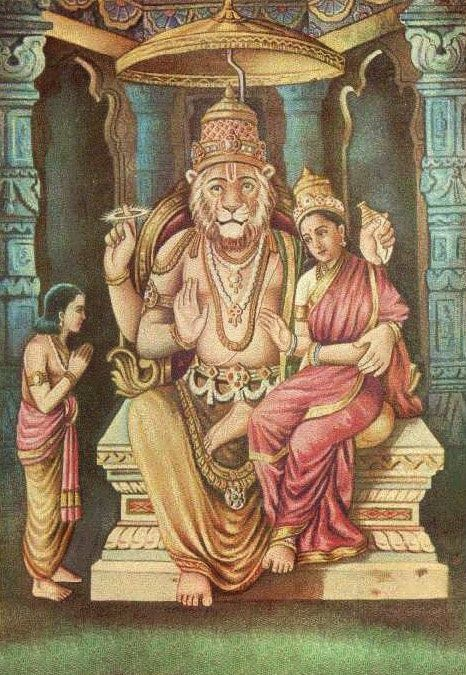 HiNDU GOD Lord Narsinmha Links to a website with detail about many lesser known deities and
