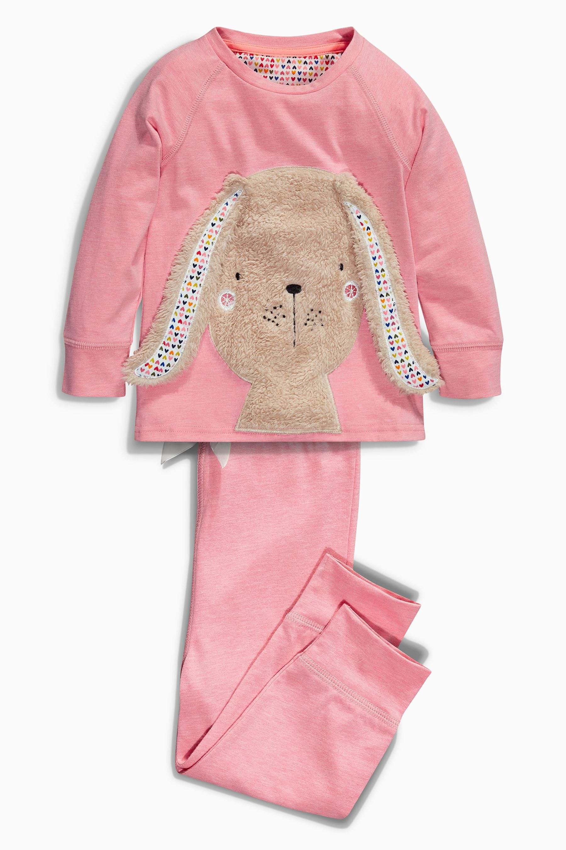 40420cac5 Buy Pink Bunny Appliqué Snuggle Fit Pyjamas from the Next UK online shop