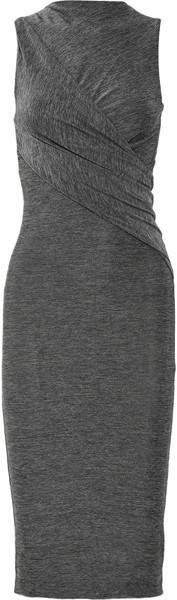 fef54718211 Women's Gray Twist Front Jersey Dress | My Style | Fashion, Style ...