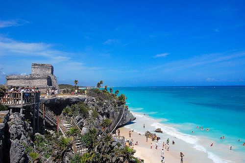Not only a major Mayan ruins site - Tulum offers a tropical beach backdrop