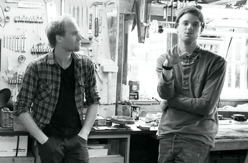 Martijn and Kamiel of Blom and Blom (industrial authentics) at their workshop