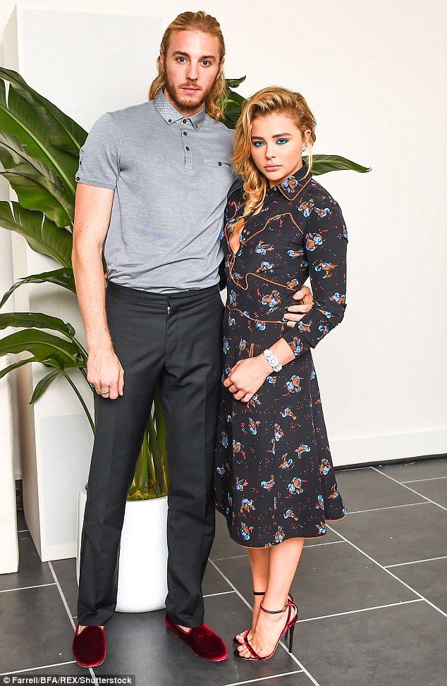 772a0d87306 Brother and sister  Chloe brought her brother Trevor Duke-Moretz to the  soiree