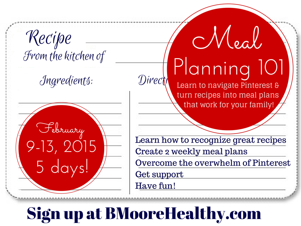 Join Me For 5 Days And We Will Get Your Meals In Order