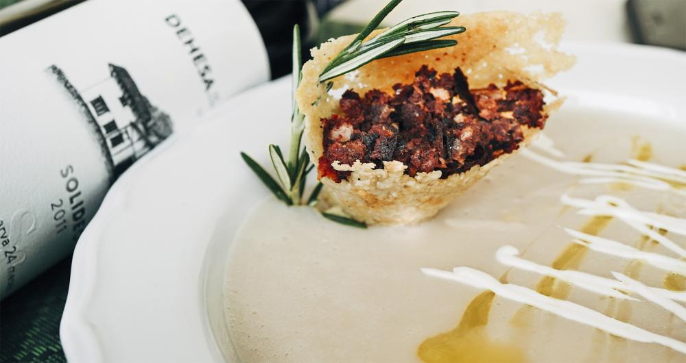 Marinter – Crema de Alubias con crujiente de Queso Hacienda …