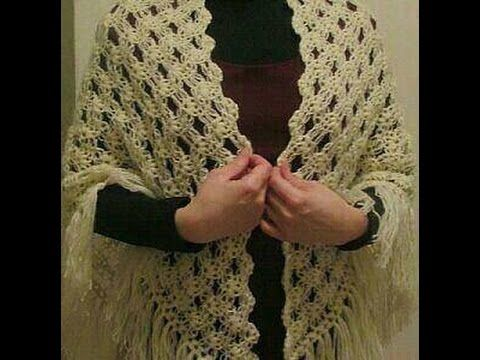 Crochet How To Make Triangle Shawl كروشيه كيف اصنع شال صوف سكارف نسائي مثلث خطوة بخطوة Youtube Crochet Crochet Shawl Shawl
