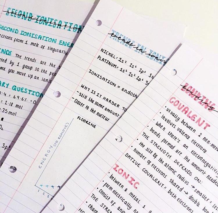 cute notes pink blue studygram pinterest study notes notes