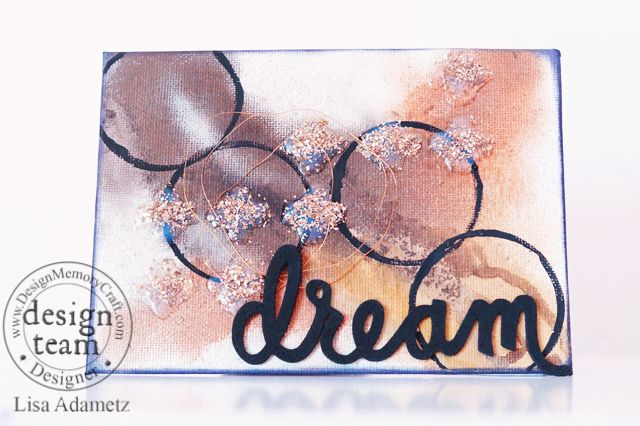 Dream Mixed Media Mini Canvas - with Lisa - Faber-Castell Design Memory Craft