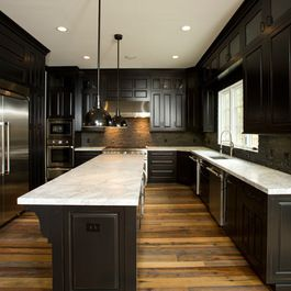 Pin By Breanne Boiteau On House Kitchen Design Modern Small Black Kitchen Cabinets Dark Kitchen Cabinets