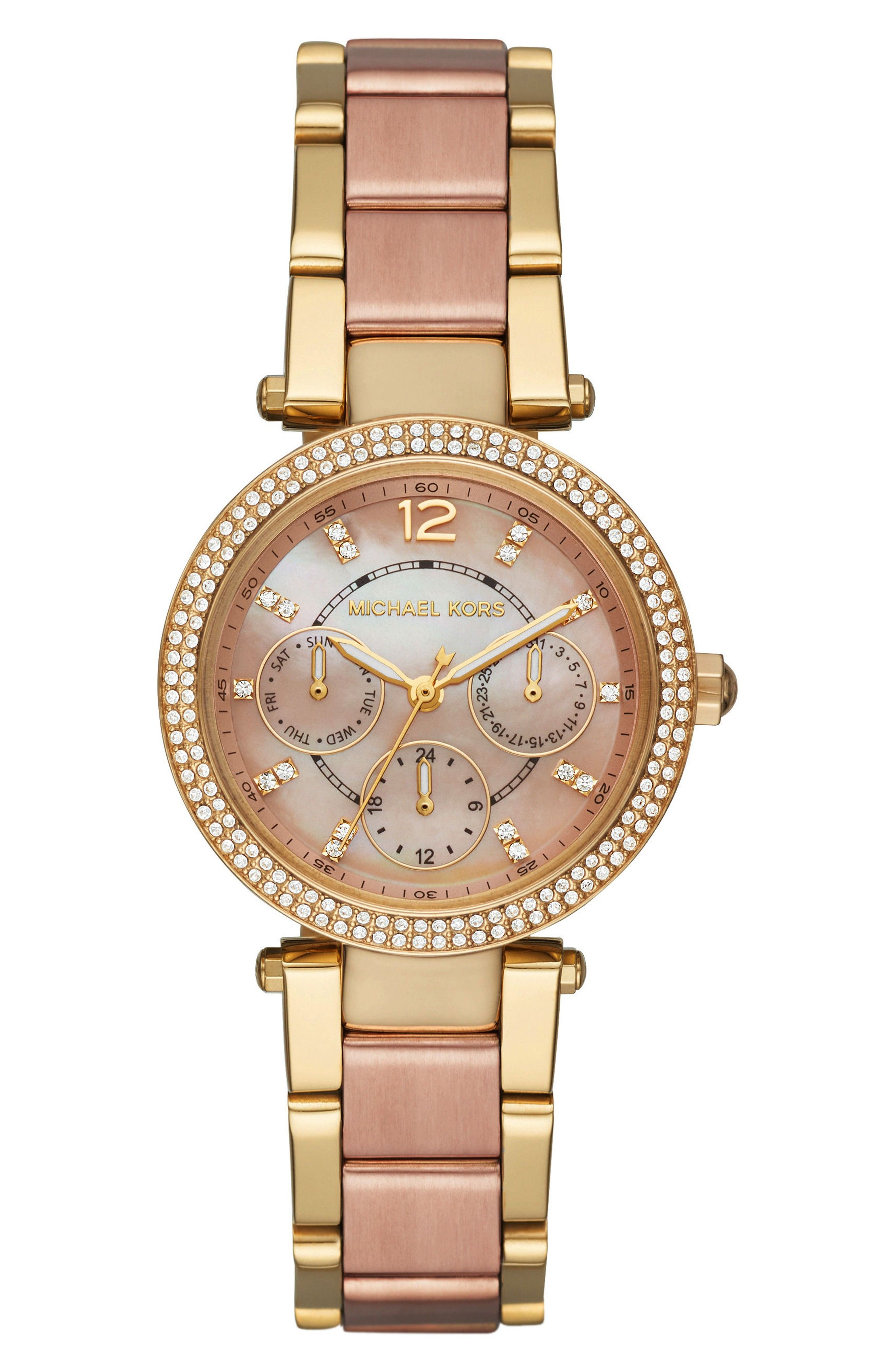 Rose Gold Watch Bracelet Watches Women Michael Kors Ritz Bracelet Watch