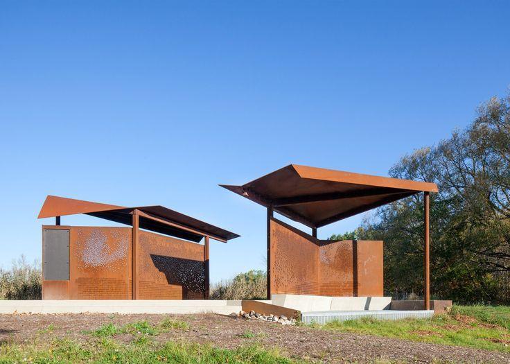 Image result for curved corten steel Pavilion