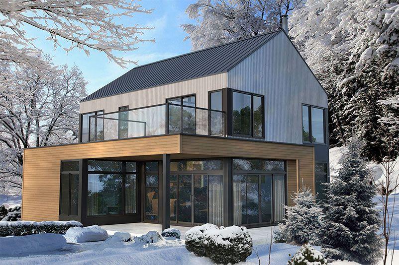 Chalet scandinave préfabriqué Maisons de campagne Pinterest - maison avec toit en verre