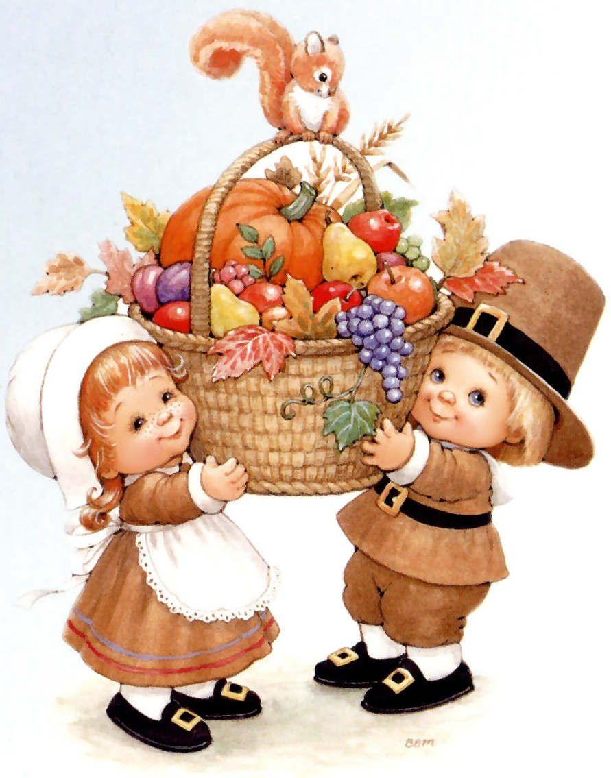 Acci n de gracias cute printables thanksgiving - Precious moments halloween wallpaper ...