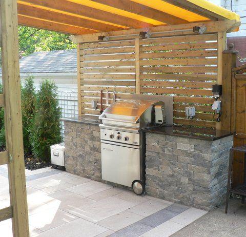 cuisine extrieure avec bbq du jardin dans ma vie - Photo Cuisine Exterieure Jardin