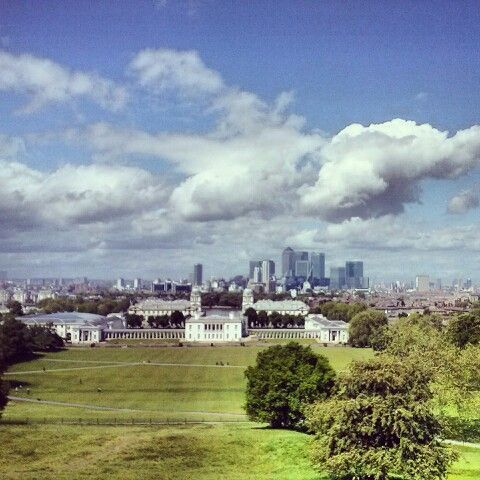 London view from Greenwich Park - fantastic!