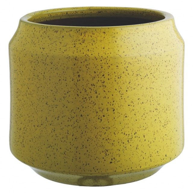 Where To Buy Ceramic Planters Part - 46: The Truro Yellow Ceramic Planter Is A Distinctive Contemporary Design With  A Smooth Reactive Glaze That Gives It A Speckled Finish. Buy Now At Habitat  UK.