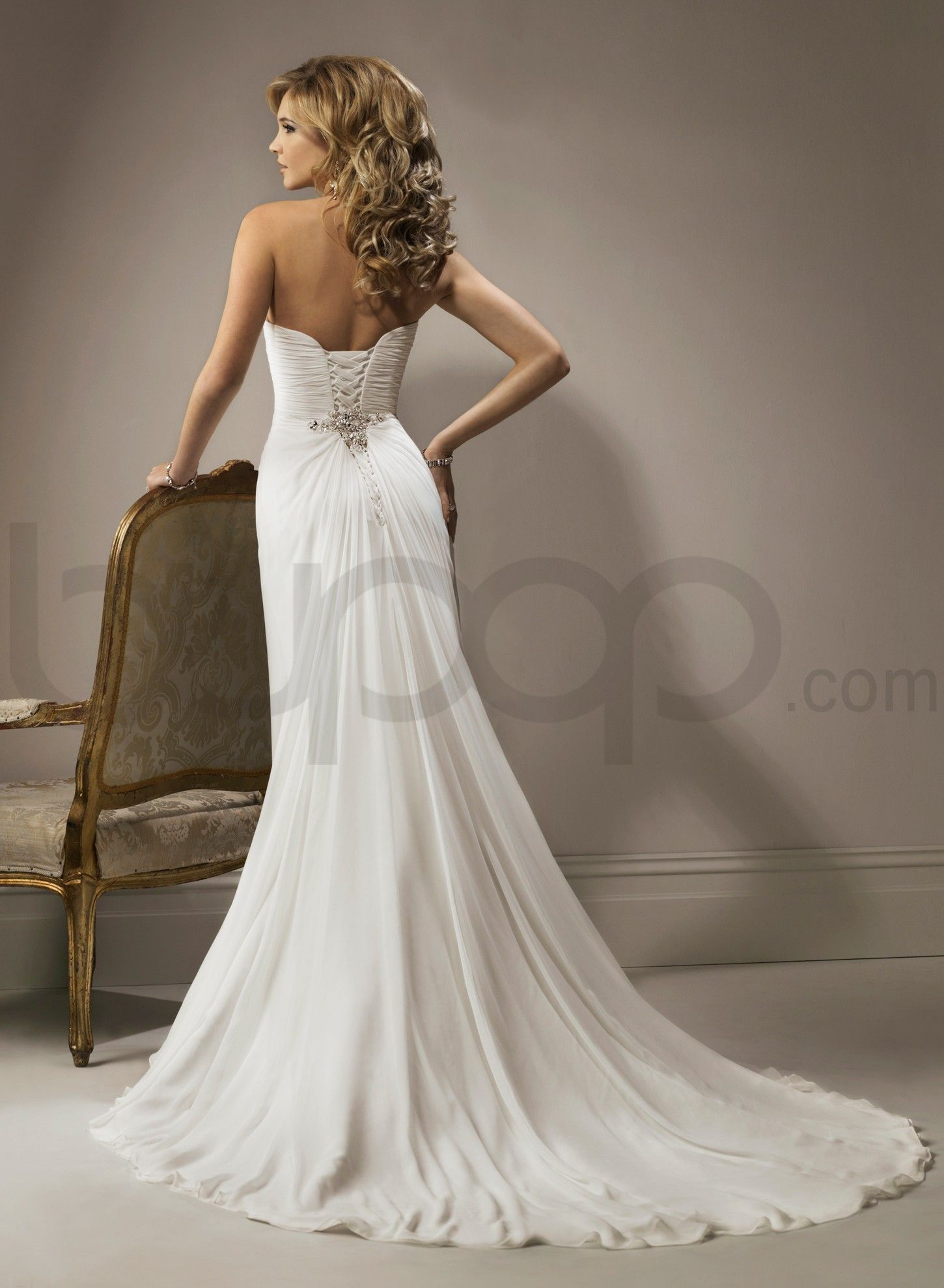 Sweetheart Neckline Fit And Flare Wedding Dress Canada