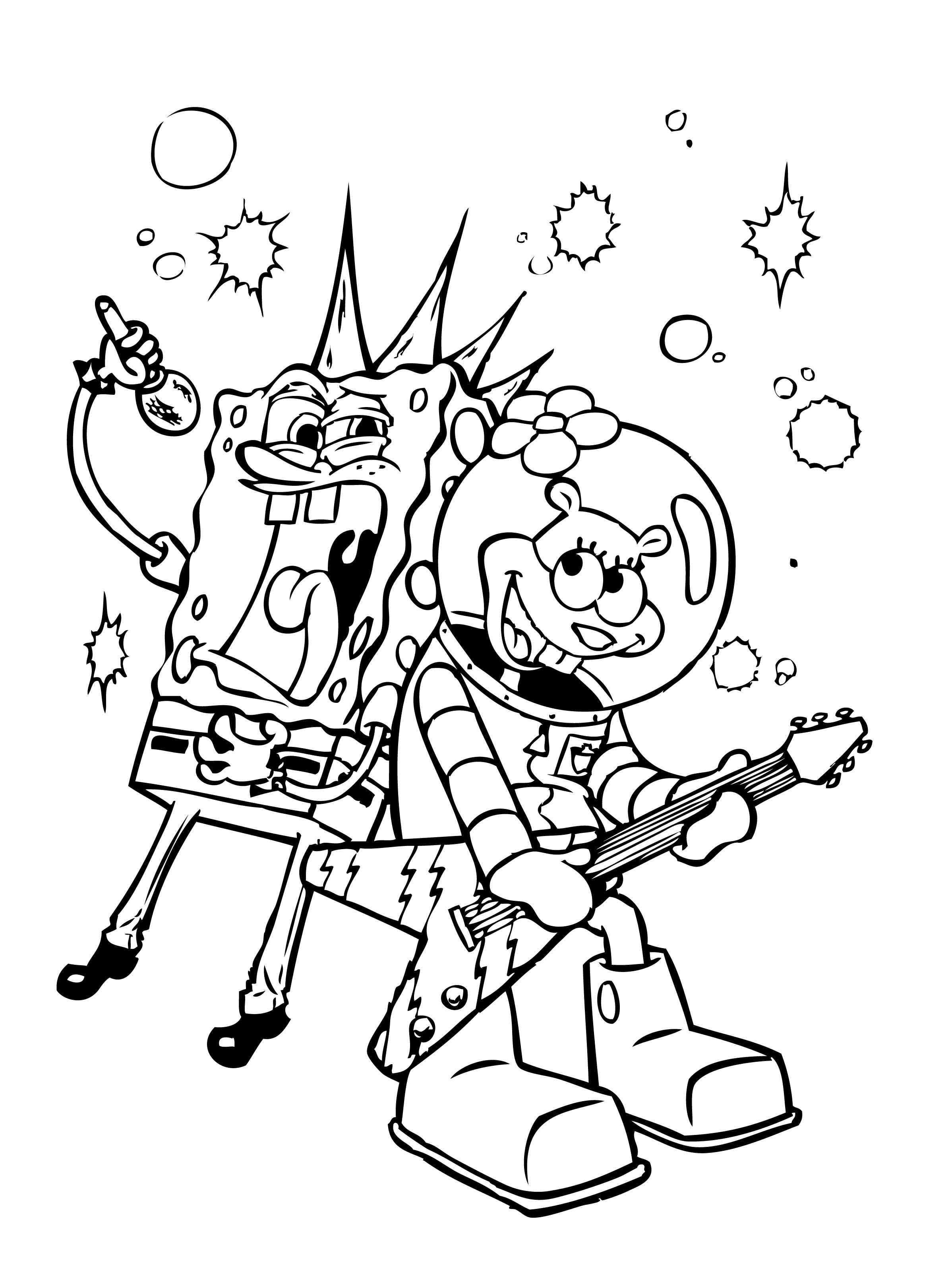 Spongebob Sing Coloring Pages Hd Wallpaper Spongebob