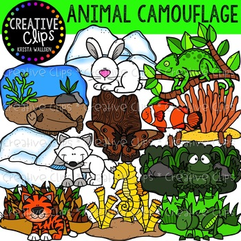Animal Camouflage Clipart Creative Clips Clipart In 2021 Creative Clips Clipart Animal Clipart Animals